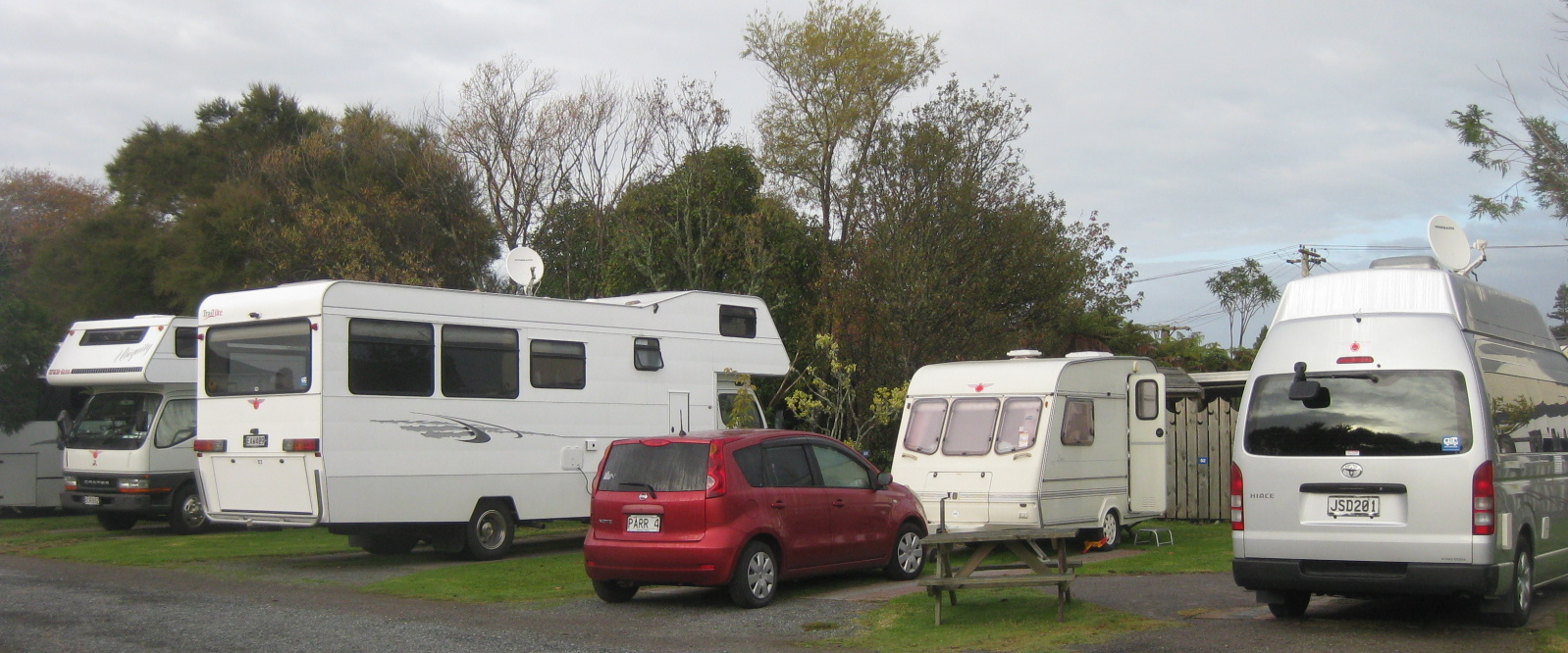 My little car and little caravan and my bigger friends